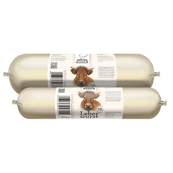 Leberwurst 100% Rind – Nassfutter Hund